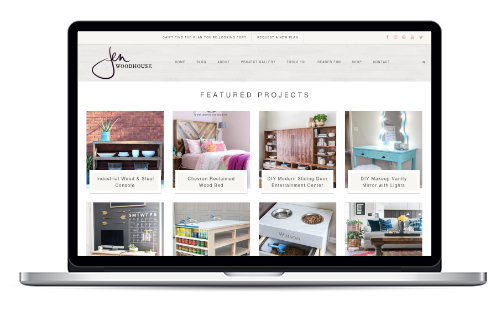 JenWoodhouse.com Redesign Preview