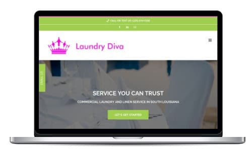 Laundry Diva Website Preview