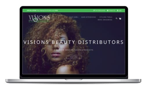 Visions Beauty Distributors Website Preview